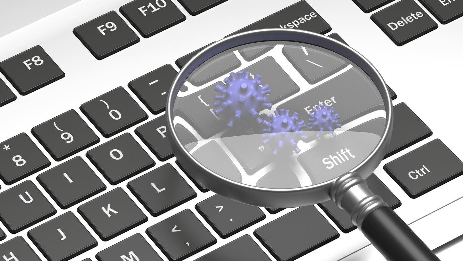teclado ordenador lupa