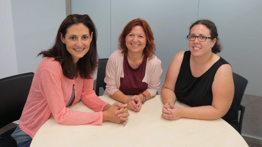 Doctoras Pilar Fuster Linares, Encarnación Rodríguez Higueras y Mireia Llauradó Serra, directoras de la Cátedra DECIDE.