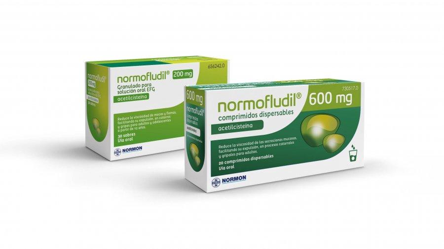 Normofludil 600 mg comprimidos dispersables.